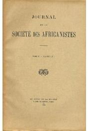 Journal de la Société des Africanistes - Tome 02 - fasc. 1 - 1932