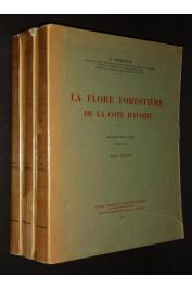 AUBREVILLE André - La flore forestière de la Côte d'Ivoire (les 3 volumes)