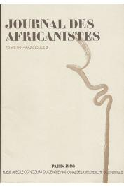 Journal des Africanistes - Tome 50 - fasc. 2 - 1980