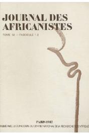 Journal des Africanistes - Tome 52 - fasc. 1 et 2 - 1982