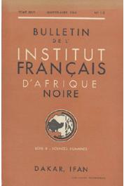 Bulletin de l'IFAN - Série B - Tome 26 - n° 1-2 - Janvier-Avril 1964