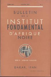 Bulletin de l'IFAN - Série B - Tome 31 - n°1 - Janvier 1969