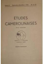 études camerounaises - n°31-32