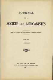 Journal de la Société des Africanistes - Tome 19 - La pêche dans le Delta Central du Niger fasc. 1 - 1949 -