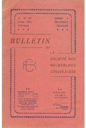Bulletin de la Société des Recherches Congolaises - n° 12 - 1er octobre 1930 - Monographie de la circonscription du Mayo-Kebbi / Etude sur le mariage dans la circonscription des Adoumas / Etat sanitaire des indigènes M'Fangs du Woleu-N'Tem / Situation ac