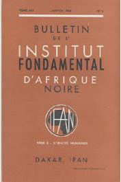 Bulletin de l'IFAN - Série B - Tome 30 - n°1 - Janvier 1968