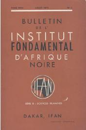 Bulletin de l'IFAN - Série B - Tome 35 - n°3 - Juillet 1973