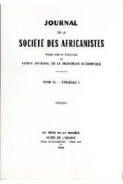 Journal de la Société des Africanistes - Tome 40 - fasc. 2 - 1970
