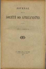 Journal de la Société des Africanistes - Tome 02 - fasc. 2 - 1932