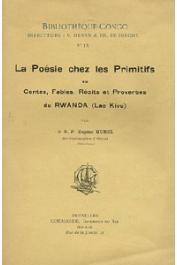HUREL Eugène - La poésie chez les primitifs ou Contes, fables, récits et proverbes du Rwanda (Lac Kivu)