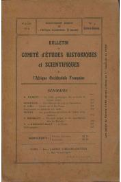 Bulletin du comité d'études historiques et scientifiques de l'AOF - Tome 02 - n°4 - Octobre-Décembre 1919