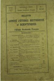 Bulletin du comité d'études historiques et scientifiques de l'AOF - Tome 04 - n°2 - Avril-Juin 1921