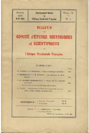 Bulletin du comité d'études historiques et scientifiques de l'AOF - Tome 09 - n°2 - Avril-Juin 1926 (BCEHSAOF) - Note de géologie sur Dakar / Notice sur les Coutumes des Tomasde la frontière franco-libérienne, etc...…
