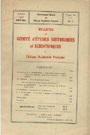 Bulletin du comité d'études historiques et scientifiques de l'AOF - Tome 09 - n°3 - Juillet-Septembre 1926 (BCEHSAOF)