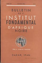 Bulletin de l'IFAN - Série B - Tome 30 - n°4 - Octobre 1968