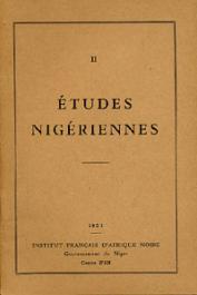 Etudes Nigériennes - 02, URVOY Yves - L'art dans le Territoire du Niger