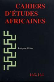 Cahiers d'études africaines - 163-164 - Langues déliées