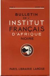 Bulletin de l'IFAN - Série A et B - Tome 08 - n° 1-4 - Année 1946
