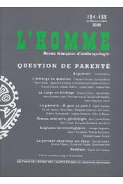 L'Homme - 154-155 - Question de parenté