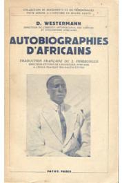 WESTERMANN D., (éditeur) - Autobiographies d'africains