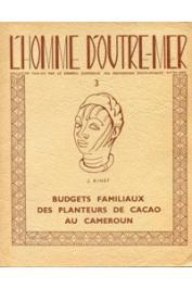 BINET Jacques - Budgets familiaux des planteurs de Cacao au Cameroun