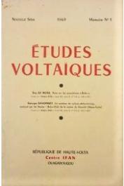 Etudes VoltaÏques - Mémoire n° 1 - Note sur les poplations Bobo / Un système de culture perfectionnée pratiquée par les Bwaba Bobo-Oule de la région de hounde