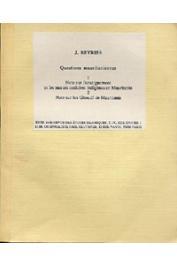 BEYRIES Jean - Questions mauritaniennes: 1- Note sur l'enseignement et les mœurs scolaires indigènes en Mauritanie. 2- Note sur les Ghdouf de Mauritanie