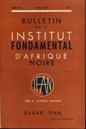 Bulletin de l'IFAN - Série B - Tome 30 - n°2 - Avril 1968