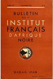 Bulletin de l'IFAN - Série A et B - Tome 14 - n°4 - Octobre 1952