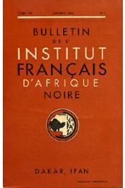 Bulletin de l'IFAN - Série A et B - Tome 15 - n°1 - Janvier 1953