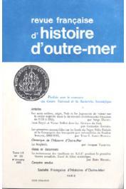 Revue française d'histoire d'Outre-Mer (RFHOM)  - n° 221