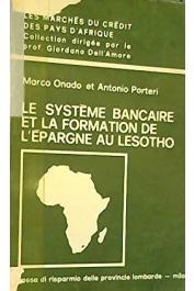 ONADO Marco, PORTERI Antonio - Le système bancaire et la formation de l'épargne au Lesotho