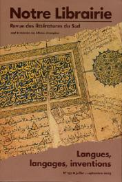Notre Librairie - 159 - Langues, langages, inventions