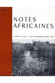 Notes Africaines - 139