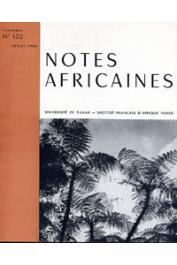 Notes Africaines - 103