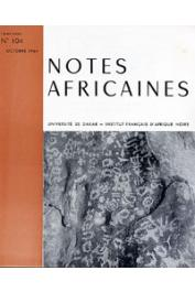 Notes Africaines - 104