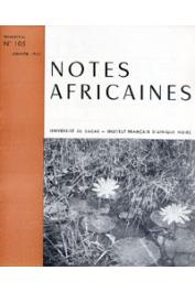 Notes Africaines - 105