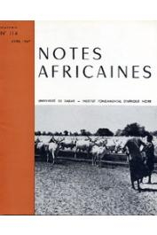 Notes Africaines - 114