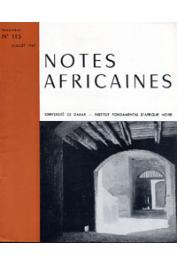 Notes Africaines - 115