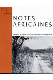 Notes Africaines - 118