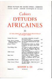 Cahiers d'études africaines - 035 - Les relations de dépendance personnelle en Afrique Noire