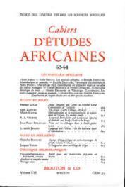 Cahiers d'études africaines - 063/064 - Les Mankala africains
