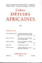 Cahiers d'études africaines - 024