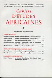 Cahiers d'études africaines - 001