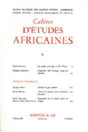 Cahiers d'études africaines - 009