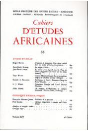 Cahiers d'études africaines - 056