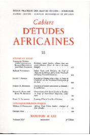 Cahiers d'études africaines - 055