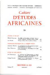 Cahiers d'études africaines - 016