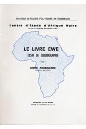 AMEGBLEAME Simon - Le livre Ewe. Essai de bibliographie