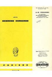 Cahiers ORSTOM sér. Sci. hum., vol. 03, n° 4, PODLEWSKI André-Michel - La dynamique des principales populations du Nord Cameroun. (première partie) : entre Bénoué et lac Tchad
